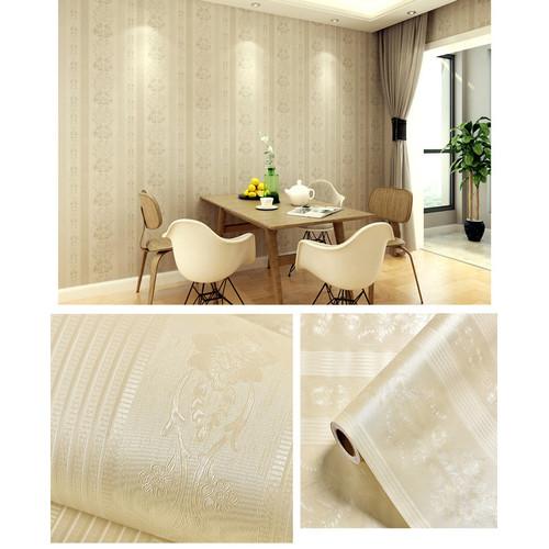 Foto Produk Home Wallpaper Sticker Dinding Gold Rose Flower - 45cm x 10 m dari homewallpaperr