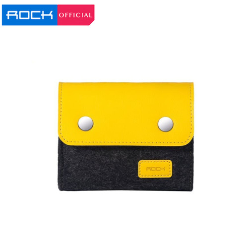 Foto Produk ROCK Wool Felt Storage Bag Storage Shell Bag Soft Sleeve - Kecil dari ROCK Official Store