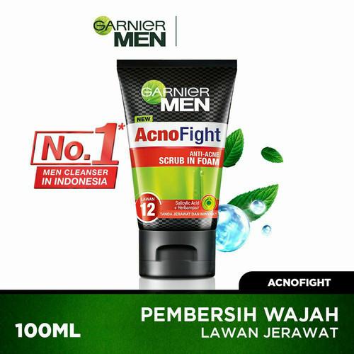 Foto Produk Garnier Men Acno Fight Anti-Acne 100 ml Pembersih Wajah Jerawat 100ml dari Ultramart88