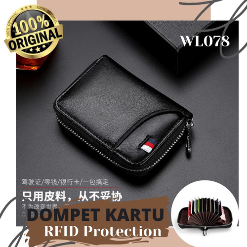 Foto Produk RFID PROTECTED Wallet / Dompet Mini Kartu RFID WL078 - NAVY dari Rising.collection