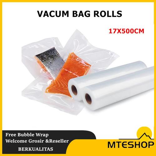 Foto Produk Refill Plastik Vacum Roll Emboss / Vacum Sealer Bag Food Grade - 17x500cm dari MTEshop