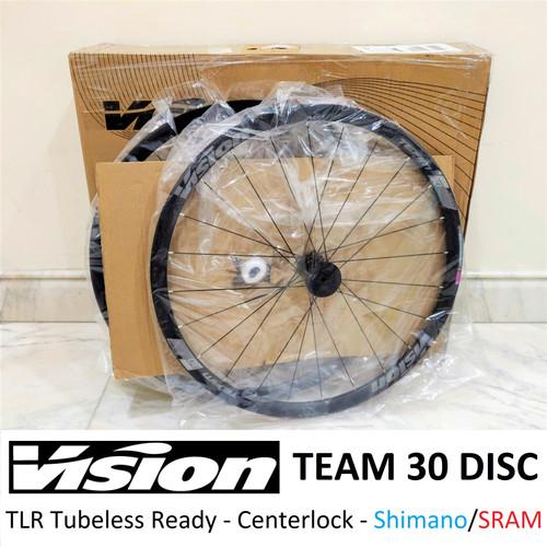 Foto Produk Wheelset Road Bike VISION TEAM 30 DISC Centerlock - TLR Tubeless dari Indostuff