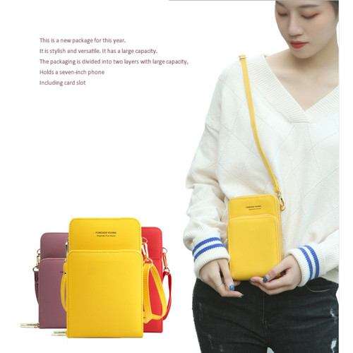 Foto Produk TS158 Tas Wanita Selempang Mini FY Double Layer Sling Bag - pink dari Dneo Store