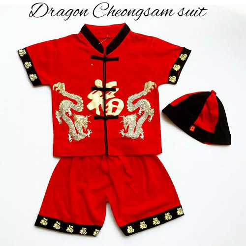 Foto Produk CHEONGSAM DRAGON baju imlek bayi laki laki baju imlek anak cheongsam - 2-3 tahun dari Kategori ID