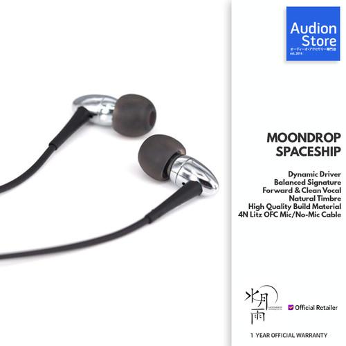 Foto Produk MOONDROP SPACESHIP Dynamic Driver Clean Vocal Mic/No-Mic Cable IEM - NO MIC dari Audion Store