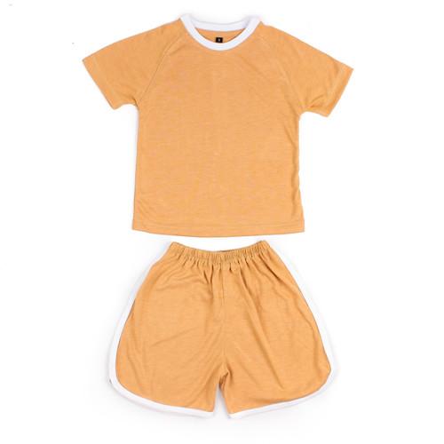 Foto Produk Shankusen Raglan Tee Set / Setelan Baju Anak Polos Raglan Shankusen - Bronze, S dari Shankusen Baby Official