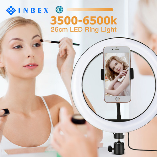 Foto Produk INBEX LED Ring Light/16cm 20cm/10-Level Brightness for Photography - 6in ring light dari INBEX Official Store