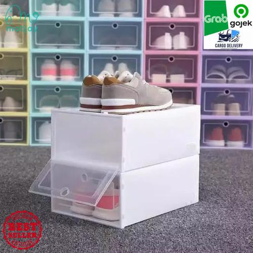 Foto Produk Kotak Sepatu Lipat / Box Sepatu Lipat / Rak Sepatu Lipat - Putih dari Motjay