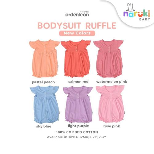 Foto Produk Ardenleon Bodysuit Ruffle Baby Kids Arden Leon Baju Anak Bayi - Deep Mustard, L dari naruki