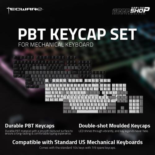 Foto Produk Tecware Double Shot PBT Backlit Keycaps - Gaming Keycaps - Classic Black dari GOODGAMINGM2M