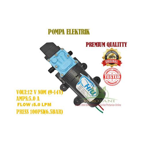 Foto Produk Dinamo Sprayer HIU Pompa Elektrik 12V 5A 5LPM 100 PSI Premium Quality dari Purotani.ID