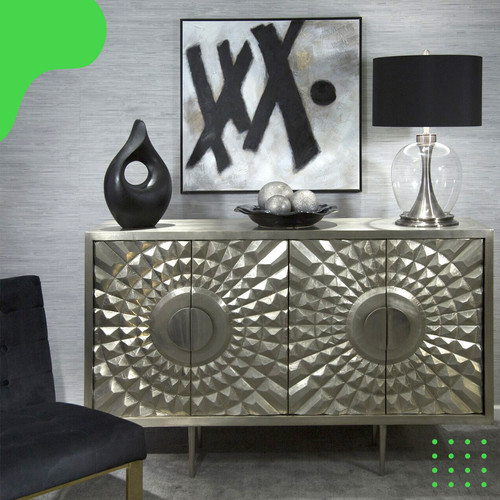 Foto Produk Lampu Meja Metal with Clear Glassball Silver dari CH Concept-Indonesia