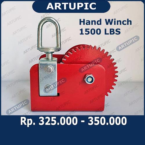 Foto Produk Hand Winch 1500 LBS Handwinch Katrol Kerekan Tangan Pengatur Jalur Nip dari ArtupicPeralatanPeternak