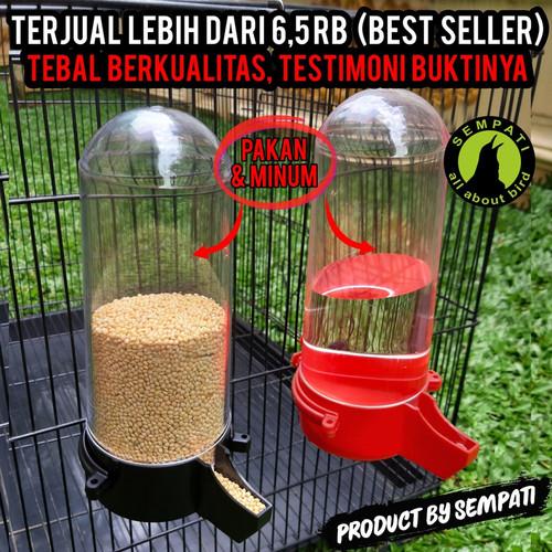 Foto Produk DISPENSER SWEET CEPUK WADAH MINUM BURUNG - Hitam dari Sempati Bird Shop