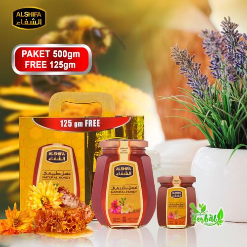 Foto Produk MADU ARAB paket AL SHIFA 500 gram Bonus 125 gram FREE Limited E dari Distributor Herbal Jkt