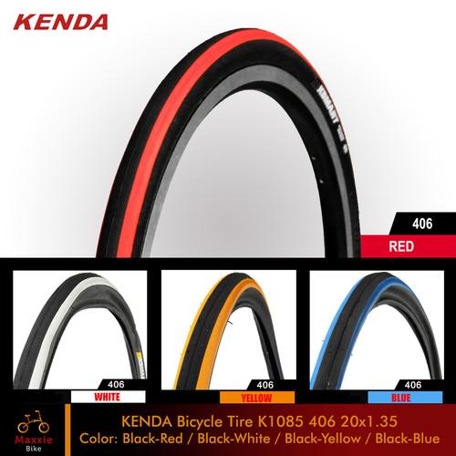 Foto Produk BAN LUAR SEPEDA KENDA KSmart K1085 20x1.35/32-406/20 Murni – 4 Warna - Black Red dari Maxxiebike