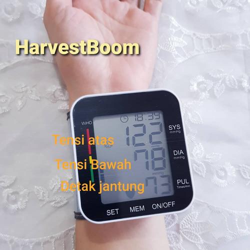 Foto Produk Tensimeter Digital alat ukur tekanan darah di pergelangan tangan wrist - Tampa suara dari HarvestBoom