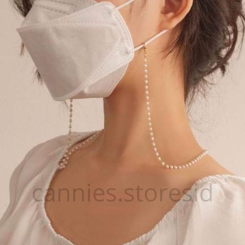 Foto Produk Rantai Kalung masker tali gantungan pearl mutiara korean japan look dari CANNIES STORES ID