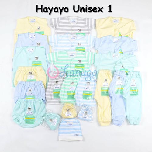 Foto Produk Paket LIBBY Newborn MOTIF Terbaru (31 pcs) / Paket Baju Bayi - Hayayo Unisex 1 dari Lanugo