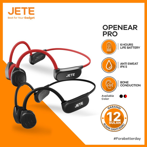 Foto Produk Jete Bone Conduction Headset Open Ear 08 - Handsfree - Garansi Resmi - Hitam dari JeteIndonesia