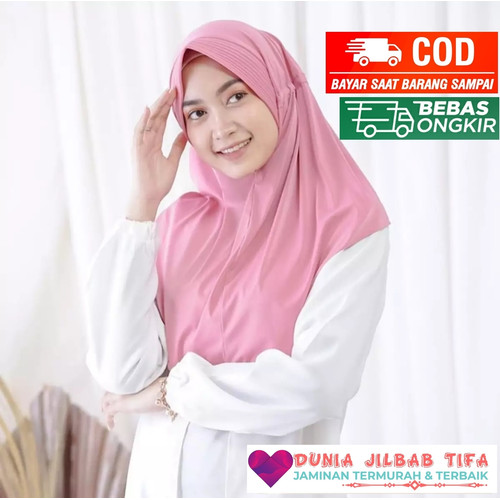 Foto Produk Jilbab Serut Jokowi Polos Adiba High Quality - Mix Warna dari Dunia Jilbab Tifa