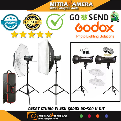 Foto Produk Paket Studio Flash Godox DS-300 II KIT dari mitrakamera