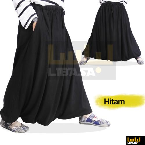 Foto Produk Sirwal Akhwat / Rok Sirwal / Rok Celana - bahan Kaos PE Adem Tebal - Hitam, XL - dewasa dari abu sumayyah77