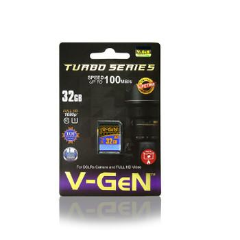 Foto Produk SD Card V-Gen Turbo Series 32gb SDHC Memory Class10 32 gb 100mbps SDXC dari PojokITcom Pusat IT Comp