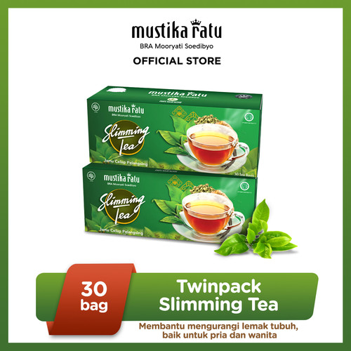 Foto Produk [Mustika Ratu] Twinpack Slimming Tea 30bag Teh Diet dari Mustika Ratu