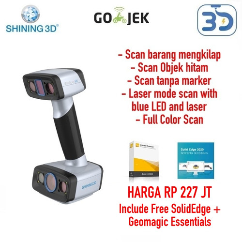 Foto Produk Industrial Grade 3D Scanner Einscan HX for Detail Scan Shiny Black Obj dari 3D Zaiku