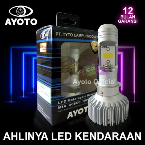 Foto Produk Deskripsi Lampu LED Utama Motor Bebek Matic AYOTO M1A H6 AC DC PNP 18 dari Ayoto Official