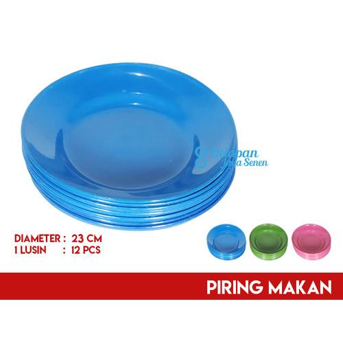 Foto Produk Piring Makan Plastik 24cm (isi 12pcs)   Piring Plastik Serbaguna dari Grosir Delapan JayaSenen