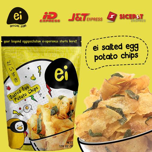 Foto Produk ei salted egg Potato Chips (60gr) dari Ei its Salted Egg