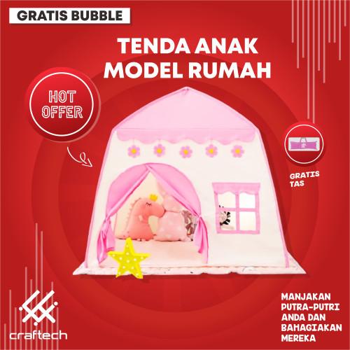 Foto Produk Tenda Anak Jumbo Outdoor Indoor Tent Portable - Biru dari Craftech