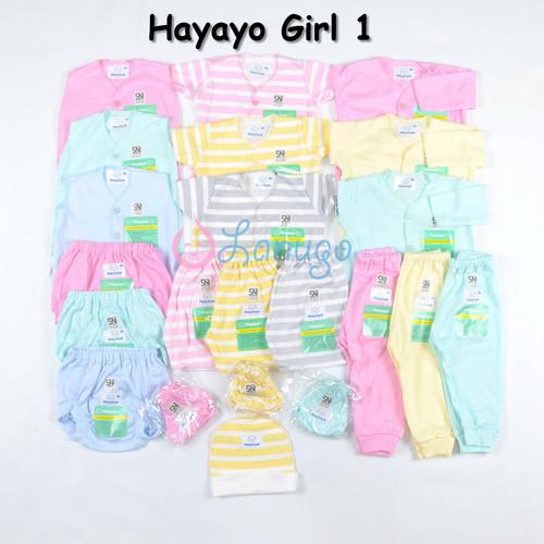 Foto Produk Paket LIBBY Newborn MOTIF Terbaru (31 pcs) / Paket Baju Bayi - Hayayo Girl 1 dari Lanugo