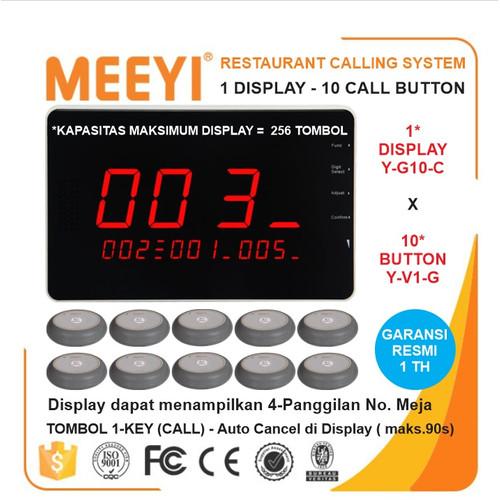 Foto Produk Bel Meja Restoran 1 Display dan 10 Call Button - MEEYI Y-G10-C x Y-V1 dari EtalaseBelanja