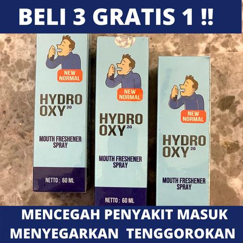 Foto Produk Hydro Oxy 2.0 Spray Mulut CEGAH KUMAN ORI BPOM Kemasan Baru 60Ml dari Kevin Lindefu