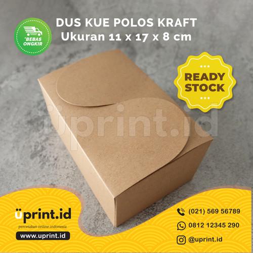 Foto Produk Dus Kue Polos Kraft /Snack Box/Dus Snack  17 x 11 x 8 cm - READY STOK dari Uprint.id
