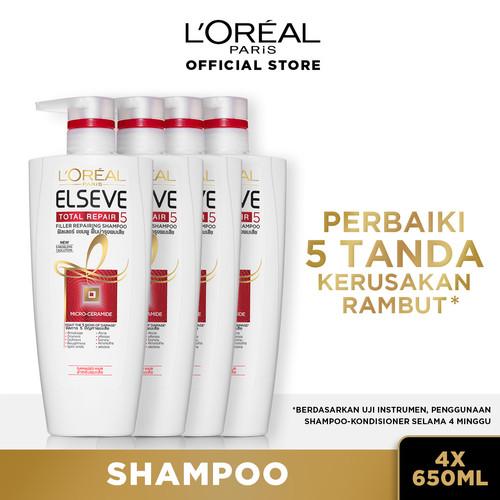 Foto Produk L'Oreal Paris Total Repair 5 Shampoo 650 ml X4 dari L'oreal Paris