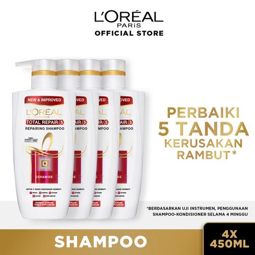 Foto Produk L'Oreal Paris Total Repair 5 Shampoo 450 ml X4 dari L'oreal Paris