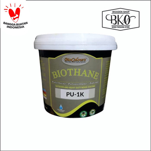 Foto Produk biothane cat kayu top coat PU waterbased biovarnish 20kg dari BKO Wooden shop