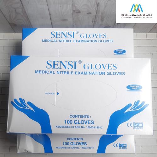 Foto Produk SENSI Nitril Gloves L dari Mitra Alkesindo