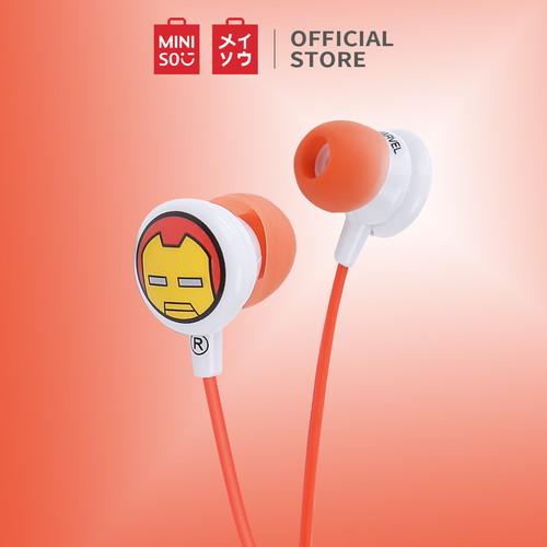 Foto Produk MINISO Earphone In Ear Marvel Headphone Earbud Headset Suara Jernih - iron Man dari Miniso Indonesia