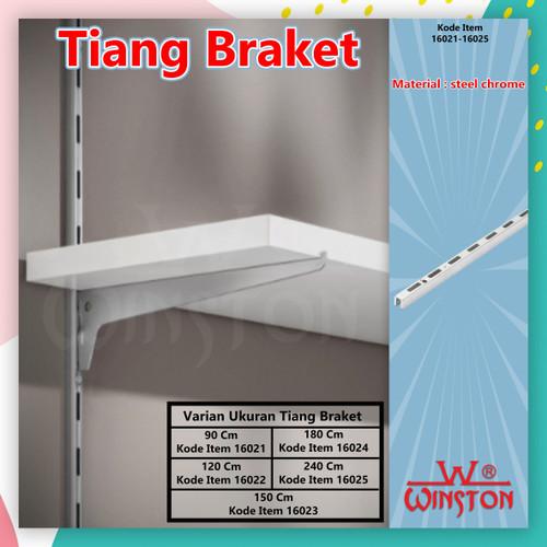 Foto Produk Tiang Braket / Bracket Kaca / Papan Dinding Wall Bracket DS 180 cm dari WINSTON-OK OFFICIAL STORE