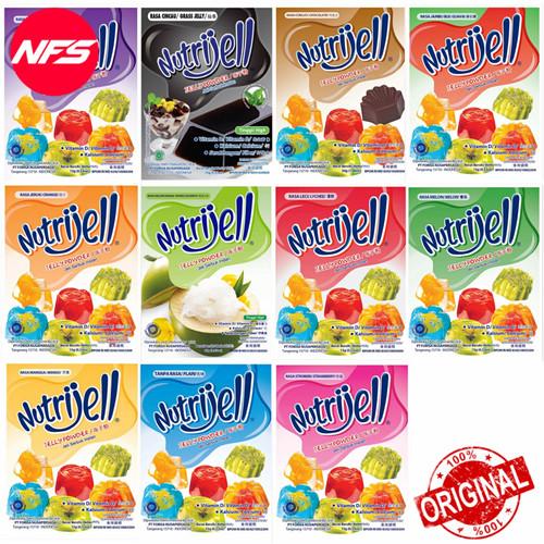 Foto Produk Nutrijell Jelly Powder 15-30 gr-All Variant Rasa/Plain-Agar Konnyaku - TANPA RASA 15g dari NF*S