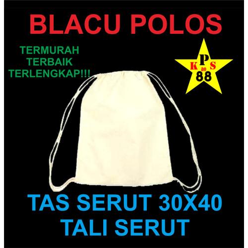 Foto Produk TAS SERUT BLACU 30X40 - DRAWSTRING POLOS BLACU - TAS POLOS BLACU dari printingkaos88