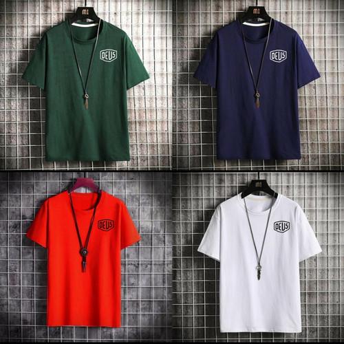 Foto Produk Kaos Distro Pria Dewasa Motif Logo Size M-L-XL-XXL - Hitam, M dari HMC fashion