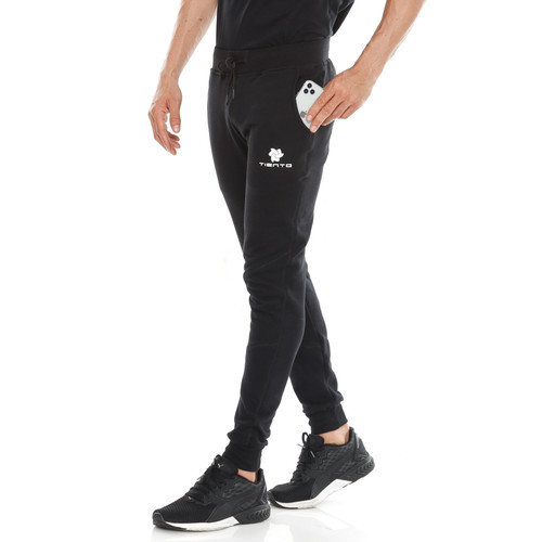 Foto Produk Tiento Celana Jogger Panjang Fleece Sporty Black Men - L dari TIENTO