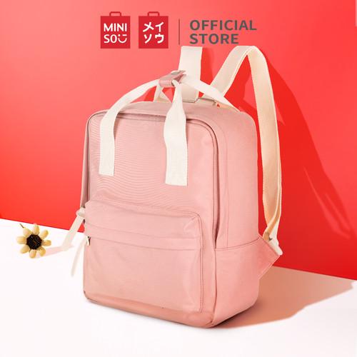Foto Produk Miniso Official Tas Ransel Tas Pungung Backpack - Merah Muda dari Miniso Indonesia