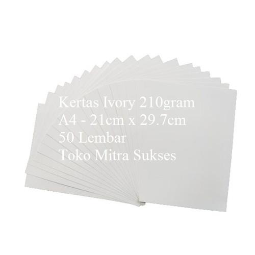 Foto Produk Kertas Ivory 210gram A4 isi 50 Lembar dari Toko Mitra Sukses